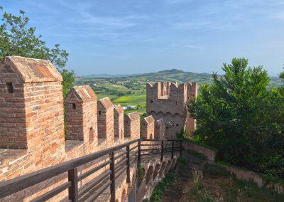 Castello di Gradara - Vista sui colli di Romagna