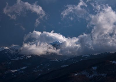 Monte Orsaro spazzato dal Libeccio