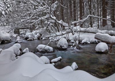 Nevicata sulla Parma del Lago Santo