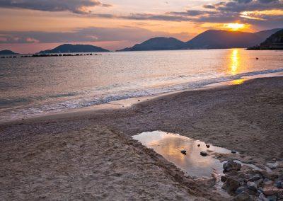 Spiaggia di San Terenzo al tramonto