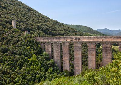 Veduta sull'acquedotto Romano di Spoleto