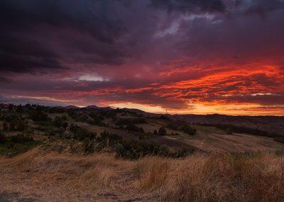 Luci e ombre al tramonto - Val Parma